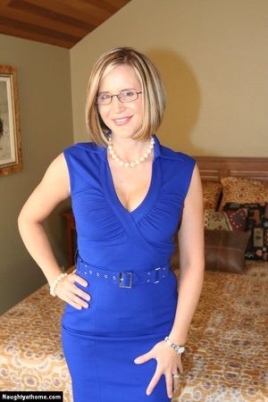 In sexy blue dress getting naked - XXX Dessert - Picture 2