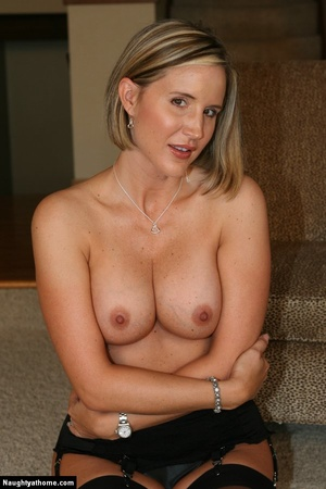 Hot Blonde Milf Babe Strips for Her Inte - XXX Dessert - Picture 18