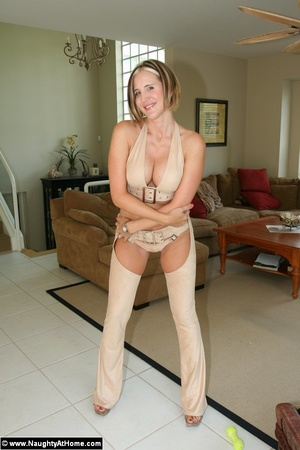 Naughty Milf Wife In Leather Chaps - XXX Dessert - Picture 2