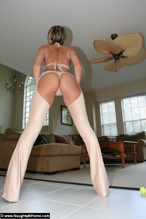 Naughty Milf Wife In Leather Chaps - XXX Dessert - Picture 4