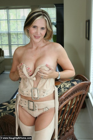 Naughty Milf Wife In Leather Chaps - XXX Dessert - Picture 14