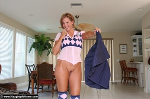 Sexy wife in naughty school girl outfit  - XXX Dessert - Picture 7