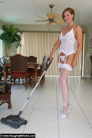 Hot Busty Wife In White lingerie strips  - XXX Dessert - Picture 1