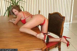 Busty milf wife in tiny red bikini gets  - XXX Dessert - Picture 14