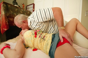 Old geezer tasting fresh young pussy - XXX Dessert - Picture 2