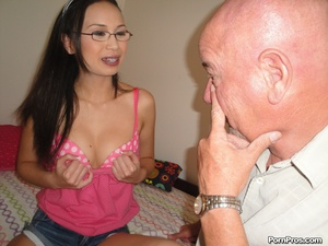 Dumb young slut plays ping pong with gra - XXX Dessert - Picture 2