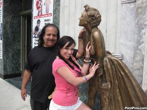 Young slut jumps on Ron Jeremy's fat dic - XXX Dessert - Picture 1