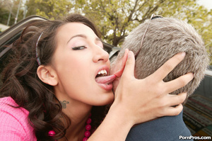 This girl is so horny for old cock - she - XXX Dessert - Picture 3