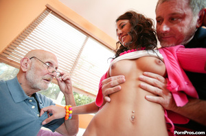 This girl is so horny for old cock - she - XXX Dessert - Picture 7