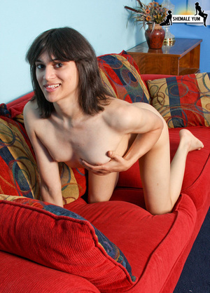 Tranny who is yet to be ass-fucked! - XXX Dessert - Picture 13