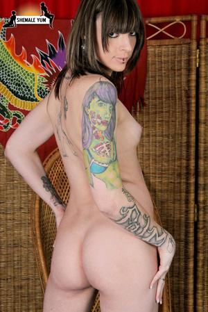 Alternative tattooed TS hottie - XXX Dessert - Picture 10