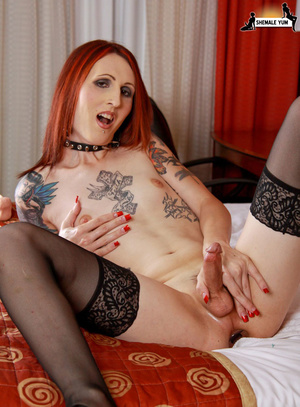Hot shemale with tattoos and piercings! - XXX Dessert - Picture 11