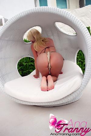Wet Transgendered Babe in Bikini shows h - XXX Dessert - Picture 12