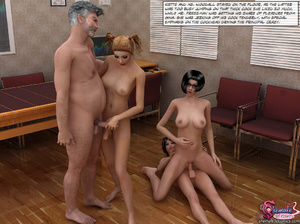 Principal of School Fuck Two Shemale Gir - XXX Dessert - Picture 9