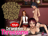 The Drunken Threesome - Crazy orgy 2 hot girls and shemale
