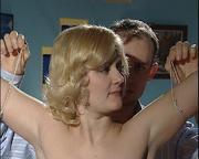 innocent captured blonde slave