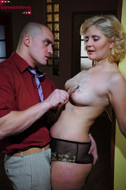 lusty blonde slave gets