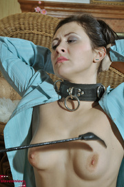 collared and breast spanked