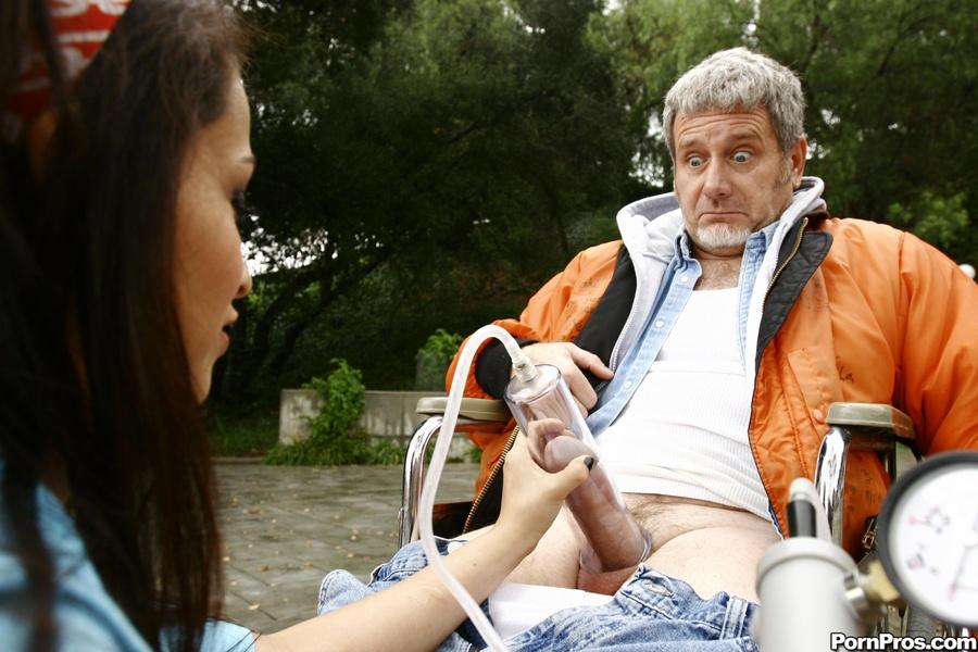 Sexy-Hot Latina Slut Jerks-Off Old Man Next - Xxx Dessert -7087