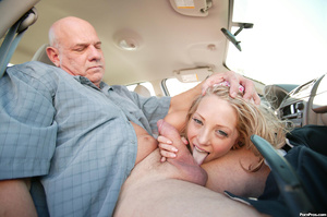 Teen driver has to suck old man cock to  - XXX Dessert - Picture 6