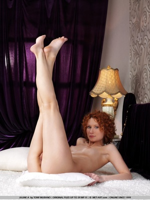 Crazy red hair on this model who has smo - XXX Dessert - Picture 1