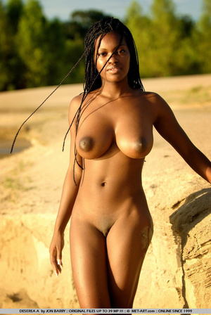 Large breasted dark skinned beauty gets  - XXX Dessert - Picture 6