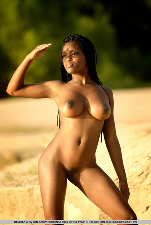Large breasted dark skinned beauty gets  - XXX Dessert - Picture 9