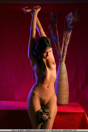 Sensual exotic dark featured girl looks  - XXX Dessert - Picture 5