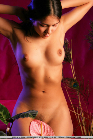Sensual exotic dark featured girl looks  - XXX Dessert - Picture 9