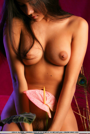 Sensual exotic dark featured girl looks  - XXX Dessert - Picture 10