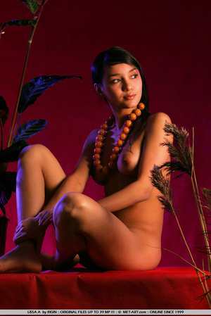 Sensual exotic dark featured girl looks  - XXX Dessert - Picture 16