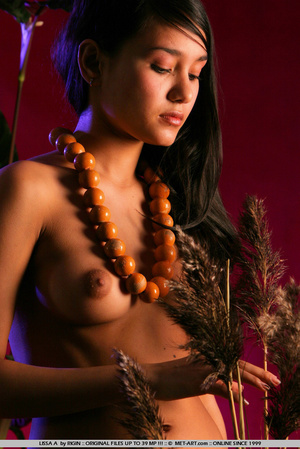 Sensual exotic dark featured girl looks  - XXX Dessert - Picture 18