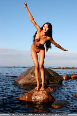 Exotic Lissa plays at the beach on the r - XXX Dessert - Picture 6