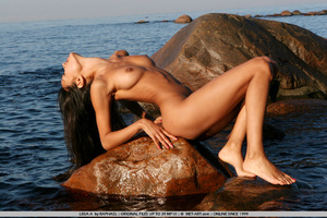 Exotic Lissa plays at the beach on the r - XXX Dessert - Picture 7
