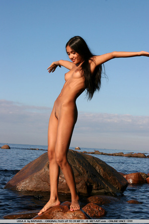 Exotic Lissa plays at the beach on the r - XXX Dessert - Picture 16