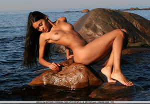 Exotic Lissa plays at the beach on the r - XXX Dessert - Picture 19