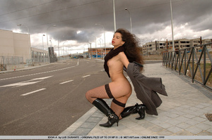 Long curly haired brunette hitches a rid - XXX Dessert - Picture 9