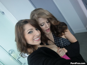 Lucky guy gets to bone two juicy teen pu - XXX Dessert - Picture 1