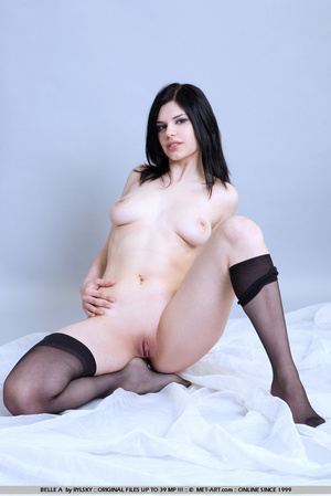 Tags: Lingerie, pale skin, stockings. - XXX Dessert - Picture 17