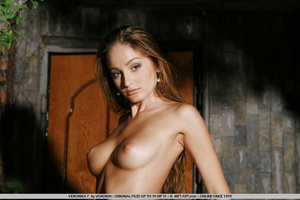 Veronika pushes up her nipples as she im - XXX Dessert - Picture 1