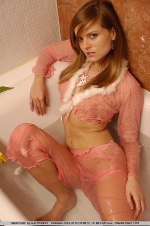 Nikky poses in her pink pajamas as she s - XXX Dessert - Picture 16