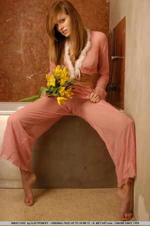 Nikky poses in her pink pajamas as she s - XXX Dessert - Picture 17