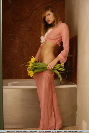 Nikky poses in her pink pajamas as she s - XXX Dessert - Picture 19