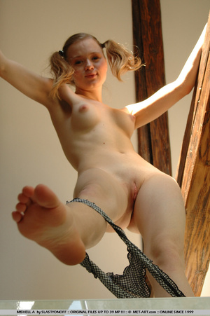Blonde amateur with pig tails and round  - XXX Dessert - Picture 4