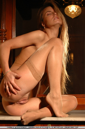 Carina has long streaky blonde hair and  - XXX Dessert - Picture 8
