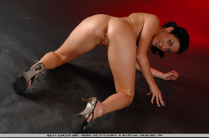 Oil covered body on Nella is wonderful a - XXX Dessert - Picture 1