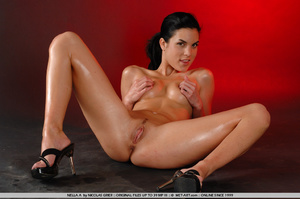 Oil covered body on Nella is wonderful a - XXX Dessert - Picture 2