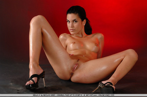 Oil covered body on Nella is wonderful a - XXX Dessert - Picture 3