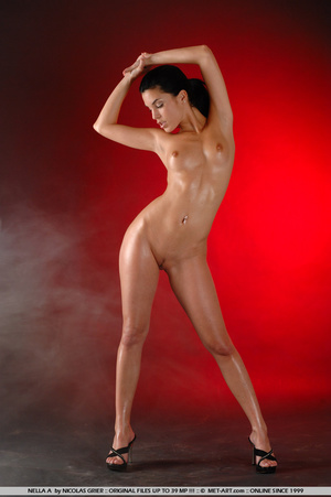Oil covered body on Nella is wonderful a - XXX Dessert - Picture 9
