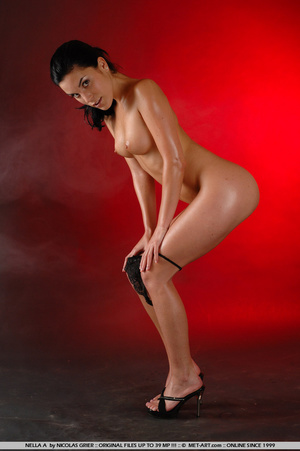 Oil covered body on Nella is wonderful a - XXX Dessert - Picture 11